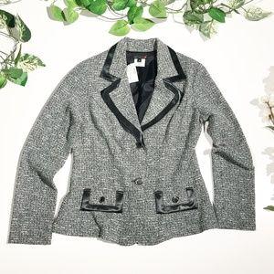 NWT Maurices Tweed Lightweight Blazer Jacket